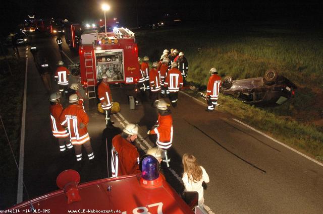 Schwerer Verkehrsunfall auf 572 – Zwei Schwerverletzte