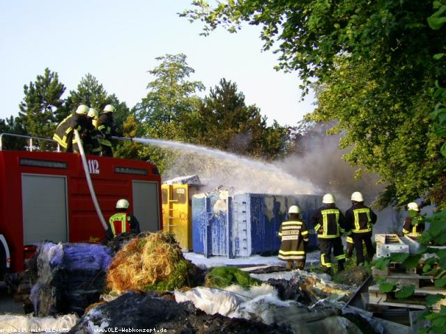 Wieder Feuer bei Altex in Epe! wieder Brandstiftung!