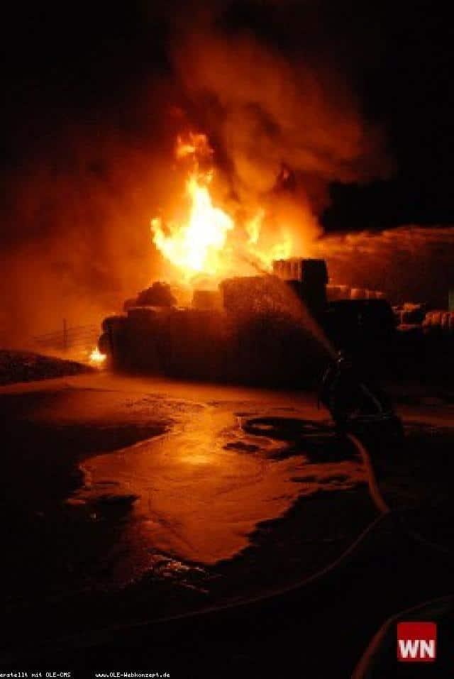 Schon wieder: Feuer bei Altex-Recycling in Gronau