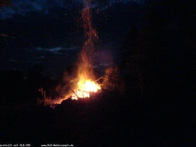 Feuer auf dem Deepenkamp