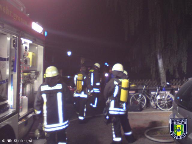 Kellerbrand in einem Mehrfamilienhaus in Gronau