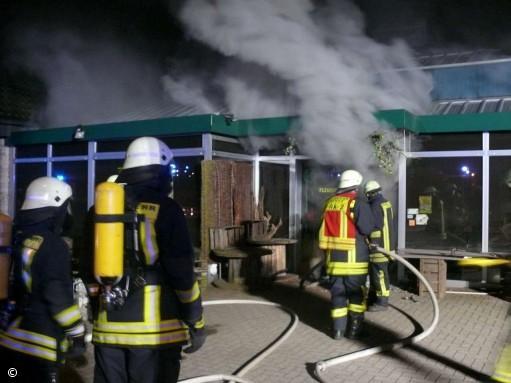 Brand zerstört Gärtnerei in Epe