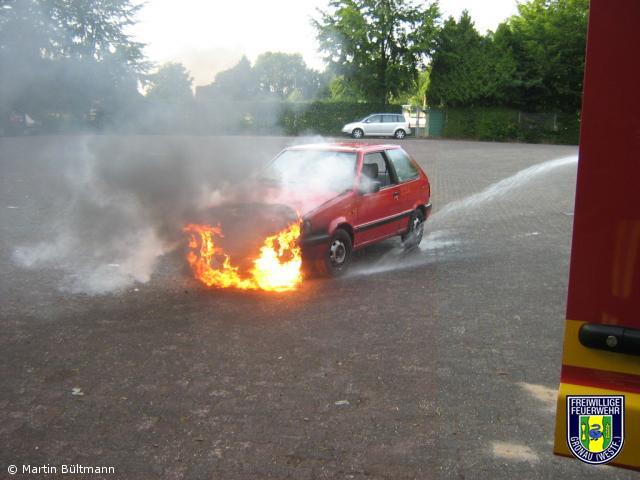 Brennt PKW mit Gasanlage