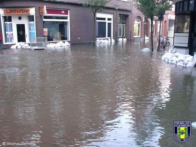 Großschadenslage durch Hochwasser in Gronau und Epe