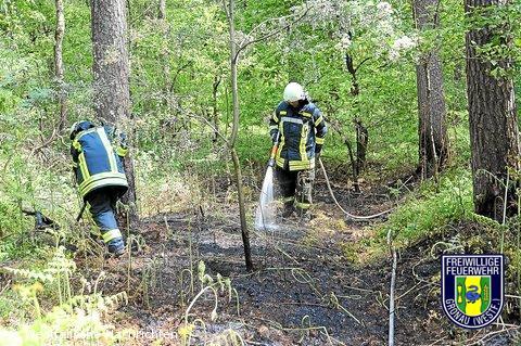 Es brannte zwei Mal im Rüenberger Wald