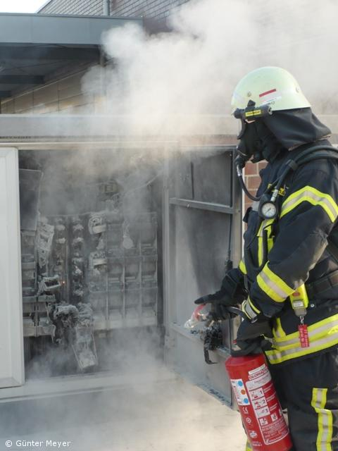 Brand in einer Trafostation