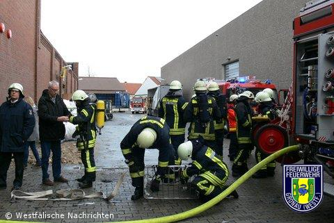 Brand bei der Firma Altex