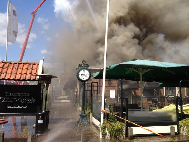 Gaststätte in Overdinkel-Losser NL niedergebrannt