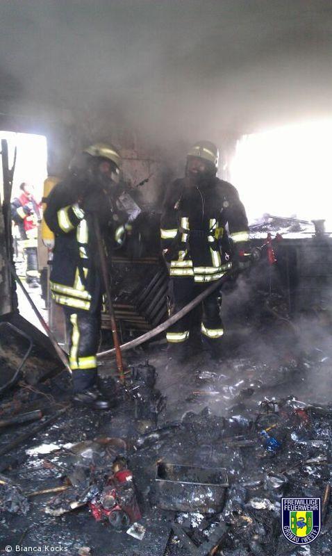 Garagenbrand an der alten Spinnerei