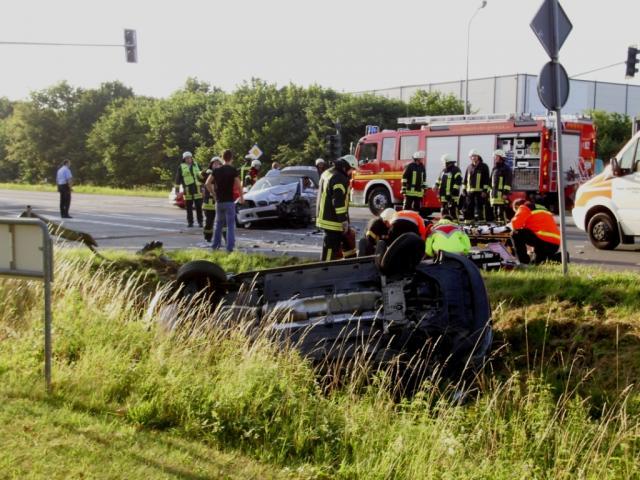 Drei Verletzte nach Verkehrsunfall auf der Ochtruper Straße