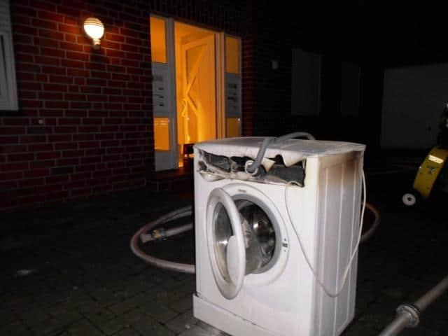 Waschmaschine brannte im Keller
