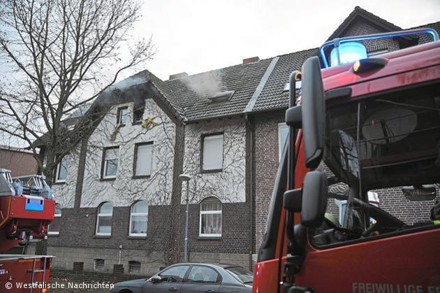 Feuer in Dachgeschosswohnung