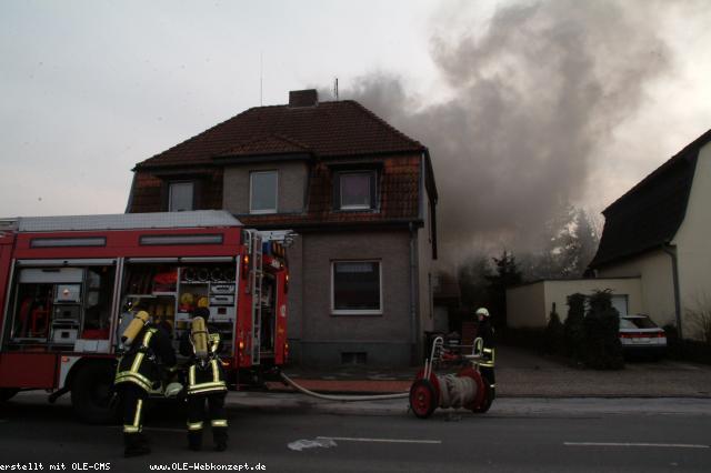 Brand im Mehrfamilienhaus