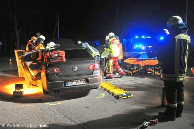 Verkehrsunfall mit einem Verletzten auf der Kaiserstiege
