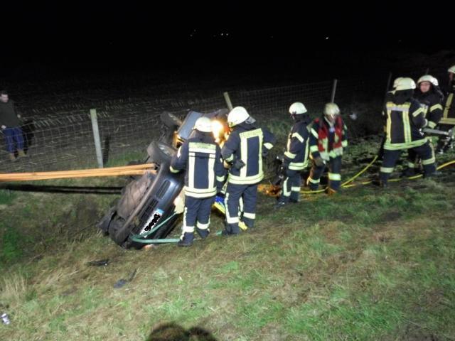 Verkehrsunfall mit zwei Verletzen auf der B 54