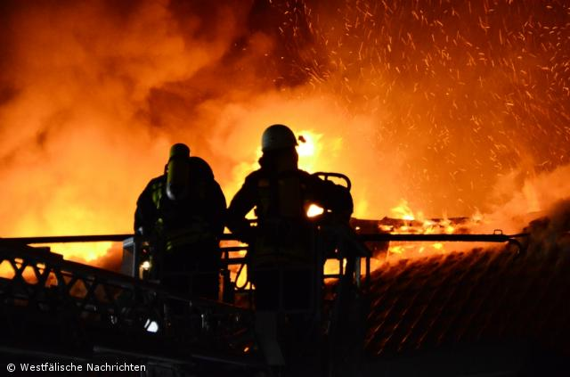 Reihenhausbrand in der Westbogenstraße