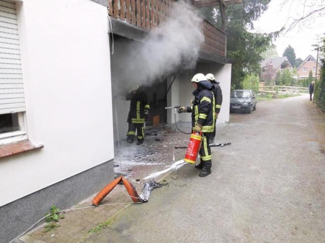 Mülleimer brannten an der Bösingbachstiege
