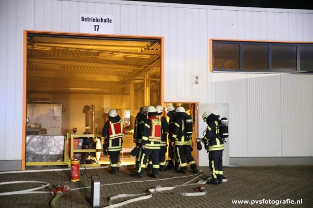 Maschinenbrand bei der Firma MONDI