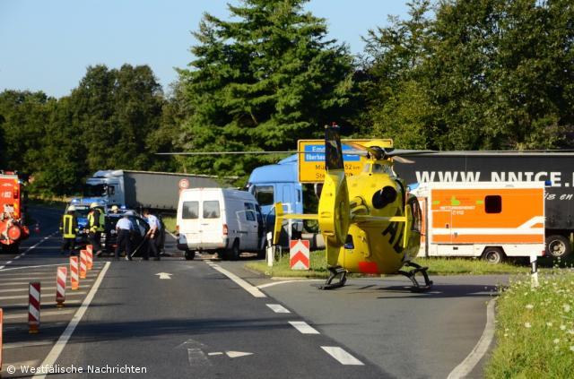 Verkehrsunfall auf der Steinfurter Straße mit zwei Verletzten