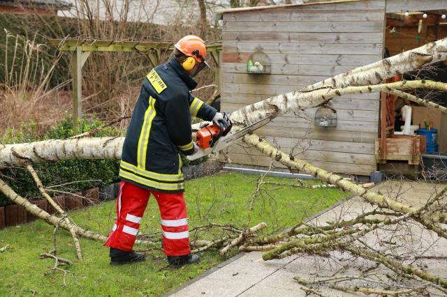 Sturmtief Felix bescherte der Feuerwehr wenige Einsätze.