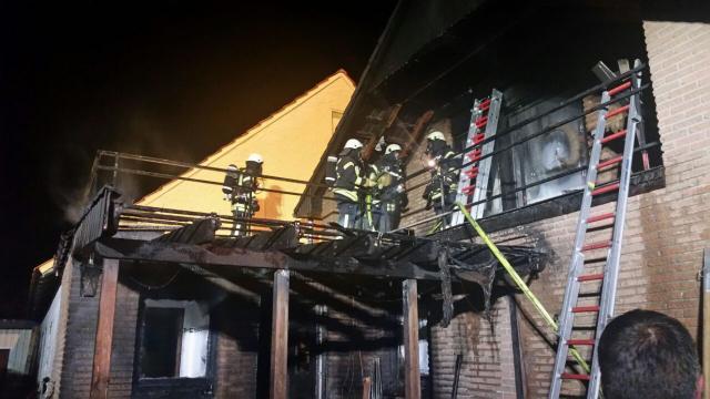 Wohnhaus Am Hohen Mersch brannte