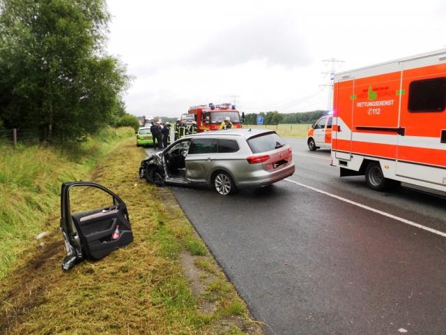 Verkehrsunfall auf der B 54 mit drei Leichtverletzten