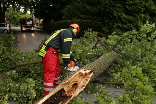 Sturm Zeljko bescherrte der Feuerwehr Gronau 25 Einsätze