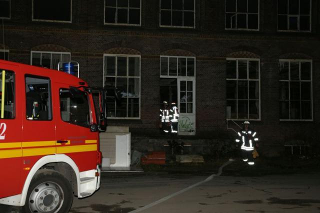 Brand im leerstehenden Industriegebäude