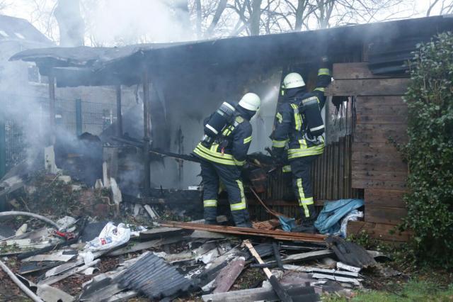 Brennt Gartenhütte an der Königsberger Straße