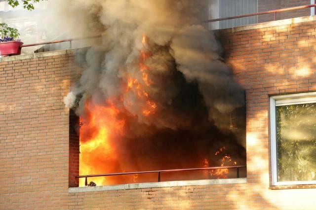 Feuerwehr Gronau beim Wohnungsbrand in Overdinkel
