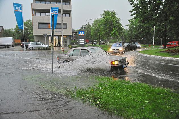 Kurzes aber heftiges Unwetter über Gronau