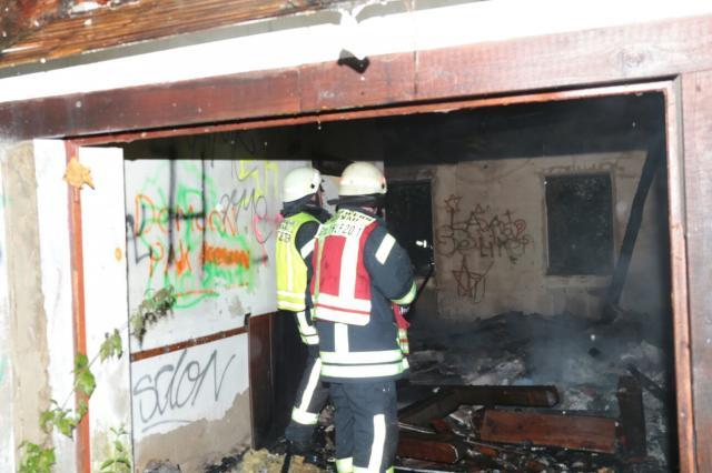 Wieder einmal Brand im leerstehenden Gebäude an der Enscheder Straße