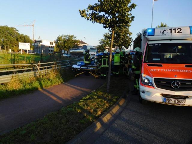Verkehrsunfall am Kreisverkehr Gronauer Straße / Hofkamp