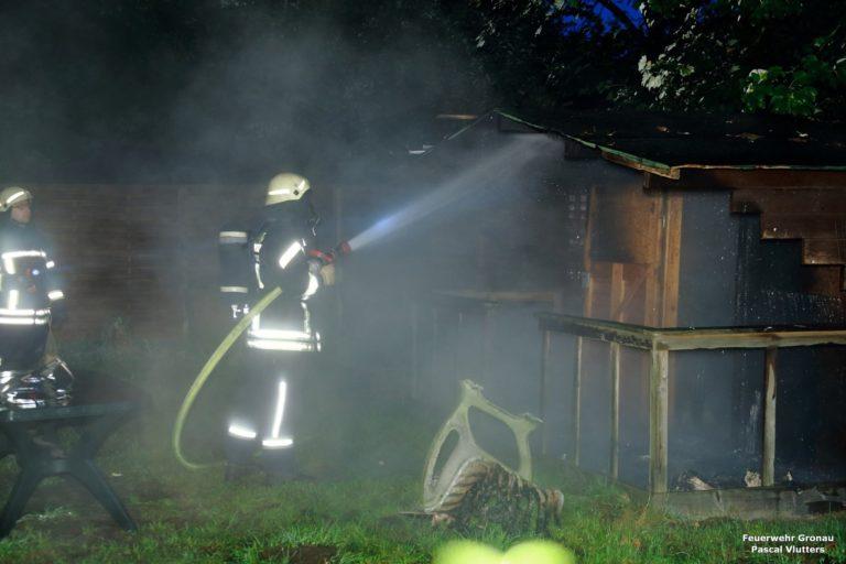 Brennende Gartenhütte auf der Enscheder Straße gelöscht