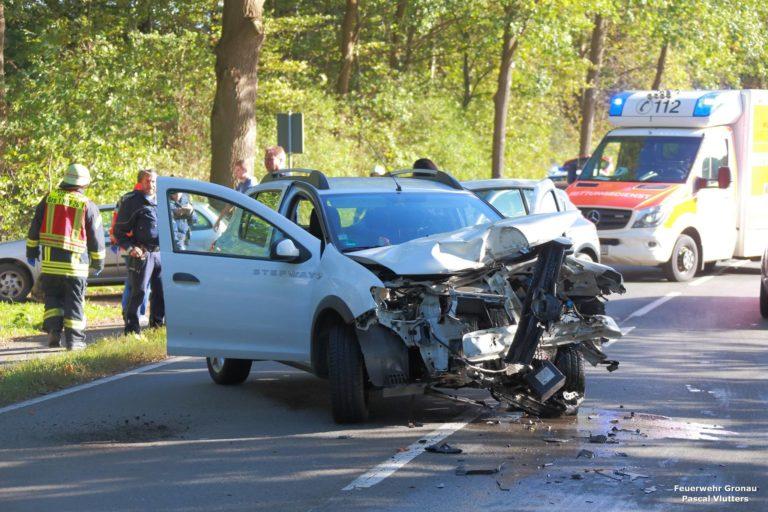 Verkehrsunfall auf der Gildehauser Straße (Baumwollstraße) verlief glimpflich