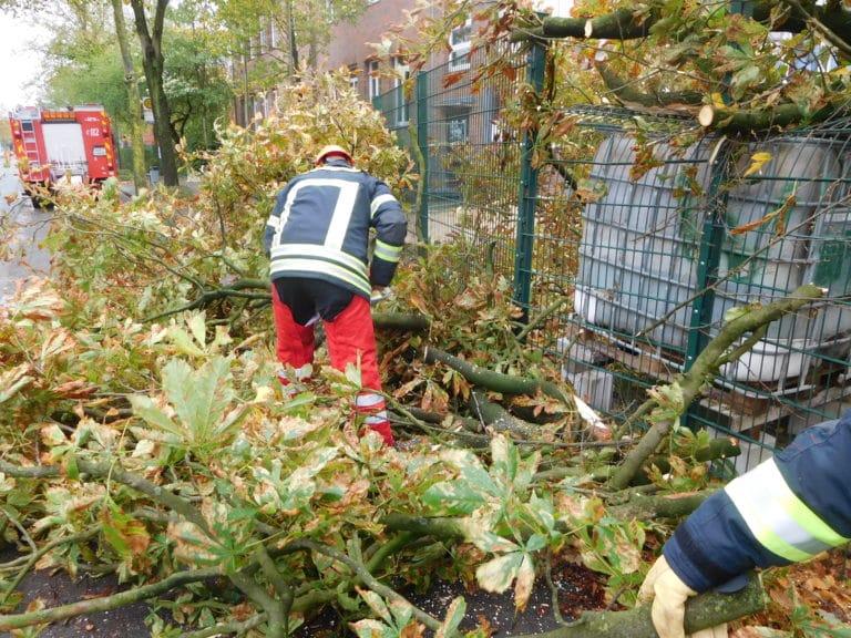 Sturmtief Xavier bescherte Feuerwehr und Bauhof einige Einsätze