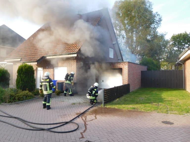 Garage brannte in der Goorstraße