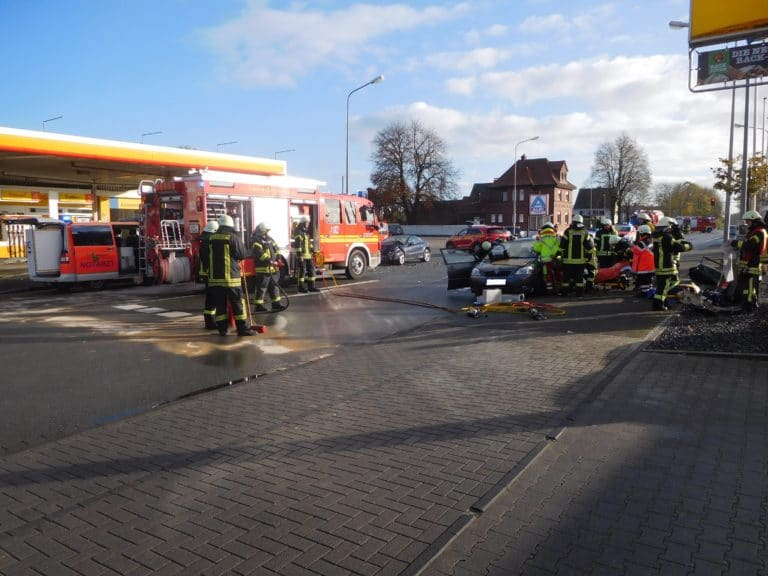 Verkehrsunfall mit zwei Verletzten auf der Ochtruper Straße