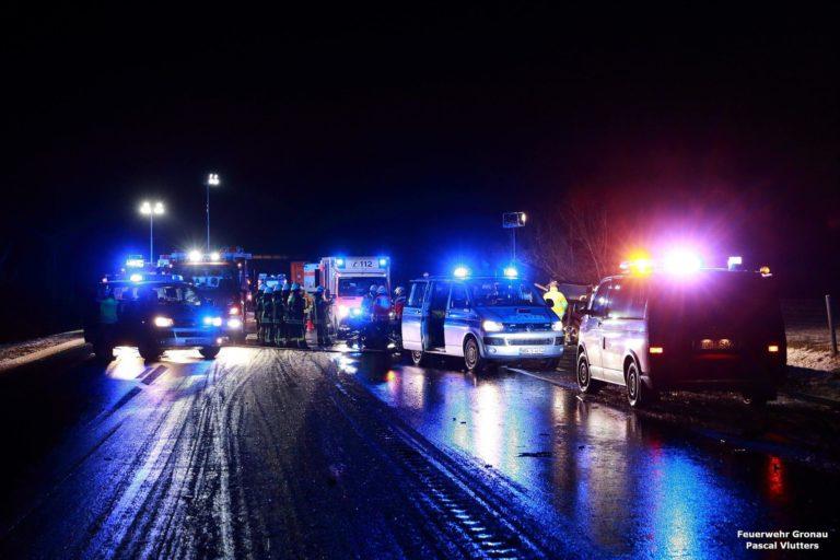 Verkehrsunfall auf der B54