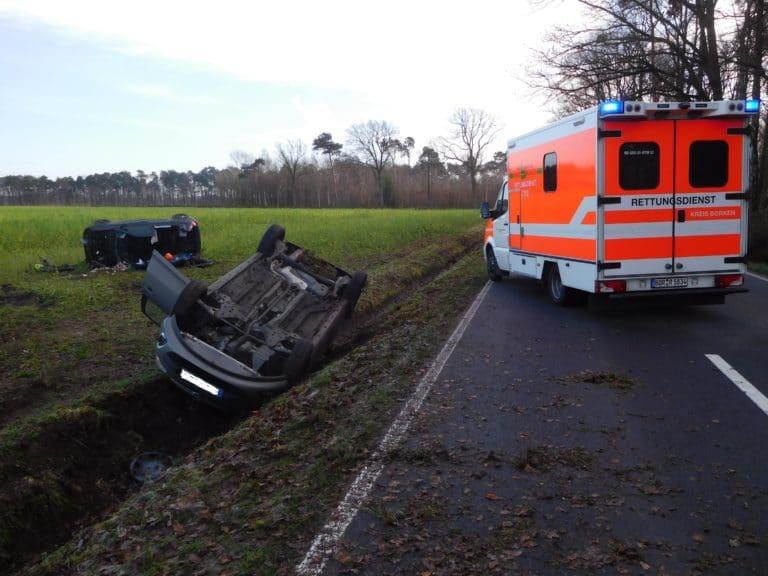 Zwei Unfälle durch Glatteis zwischen Epe und Nienborg