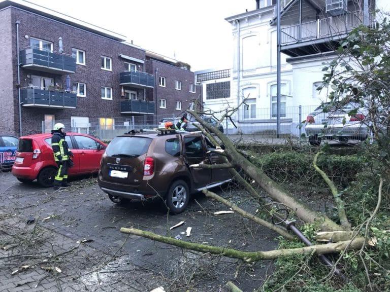 Sturmtief Friederike bescherte Feuerwehr Gronau eine Menge Einsätze