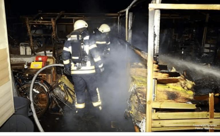 Erneuter Brand an der Kaiserstiege