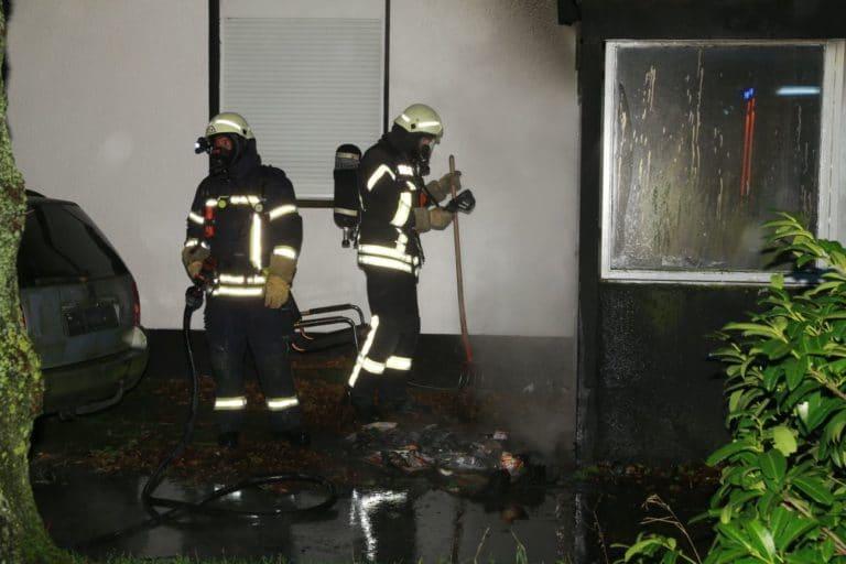 Anbau brannte an der Vereinsstraße