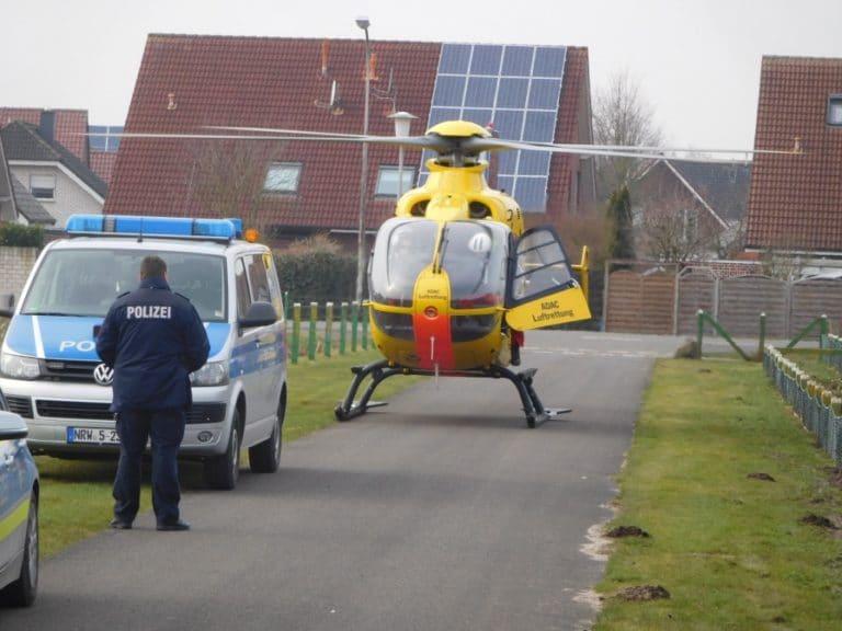 Mann mit schweren Verbrennungen in Spezialklinik geflogen