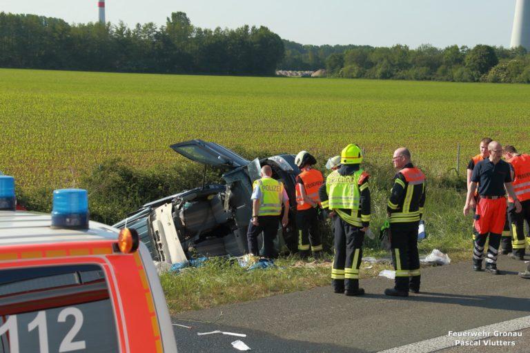 Schwerer Verkehrsunfall auf der A 31