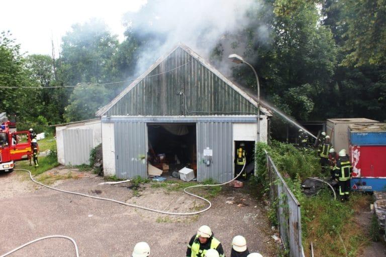 Scheune an der Enscheder Straße brannte