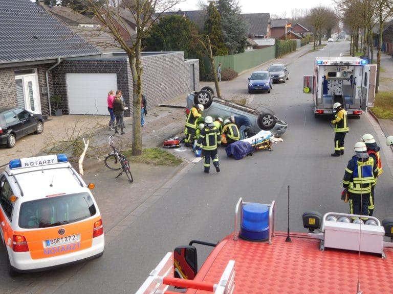 Alleinunfall auf der Nienborger Straße