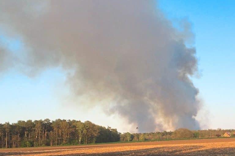 Feuerwehr Gronau unterstützt beim Brand im Gildehauser Venn