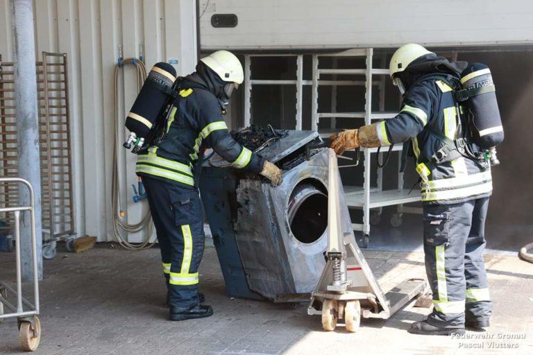 Waschmaschinenbrand am Hofkamp