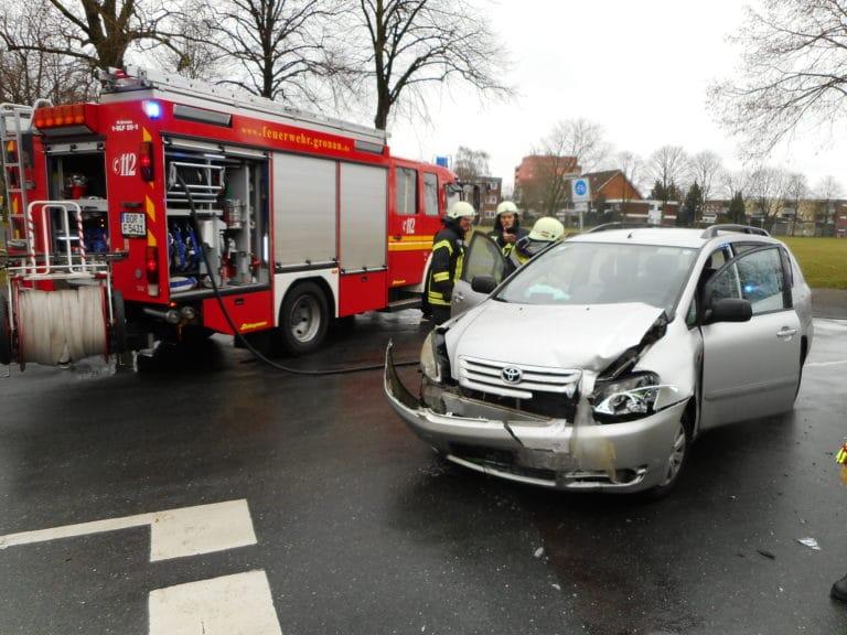Verkehrsunfall auf der Laubstiege